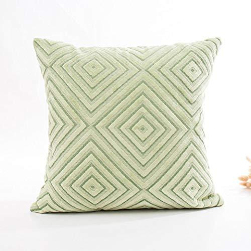 JiaMeng de Sofá Cama Decoración del hogar Funda de Lino Acolchado Almohada Sofá Cintura Throw Cushion(A,45cm*45cm): Amazon.es: Ropa y accesorios
