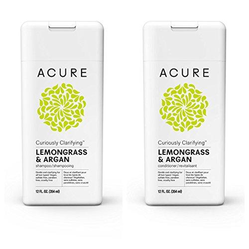 Acure Curiously Clarifying Lemongrass & Argen 12 Fluid Ounces (Variety Pack)