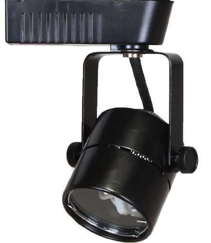 (Direct-Lighting 50010 Black MR16 Cylinder Low Voltage Track Lighting Head)