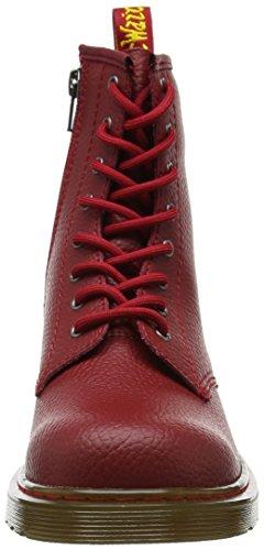 Dr. Martens Unisex-Kinder Delaney Y PBl Kurzschaft Stiefel Rot (Dark Red Pebble Lamper)