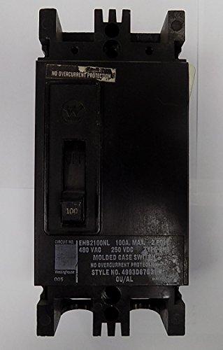 EHB2100NL - Molded Case Switch - Type EHB - 2 Pole 480V 100 Amp