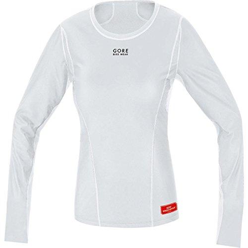 (Gore Bike Wear Women's Windstopper Base Layer Thermal Long Sleeve Shirt, Light Grey/White, Large)