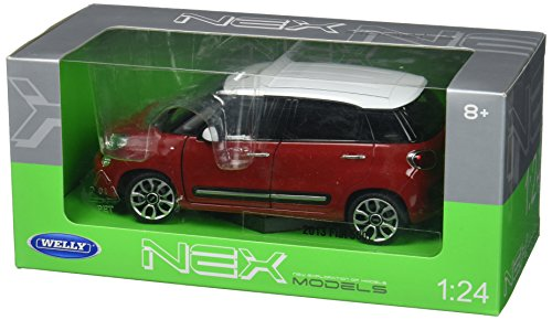 Welly Collection 1:24 2013 Fiat 500L with White Top Diecast Model Car (Best Fiat 500 Model)