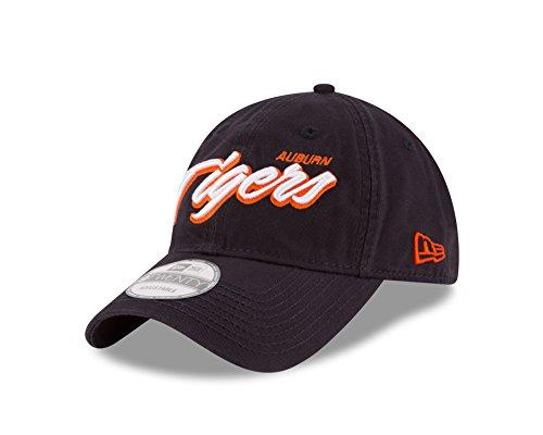 New Era NCAA Auburn Tigers Unisex NCAA Core Script 9TWENTY Adjustable Cap, Navy, One Size