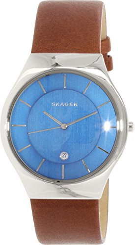 Skagen Men's SKW6160 Grenen Dark Brown Leather Watch