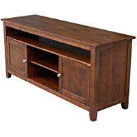 International Concepts Entertainment/TV Stand with 2-Door, Espresso