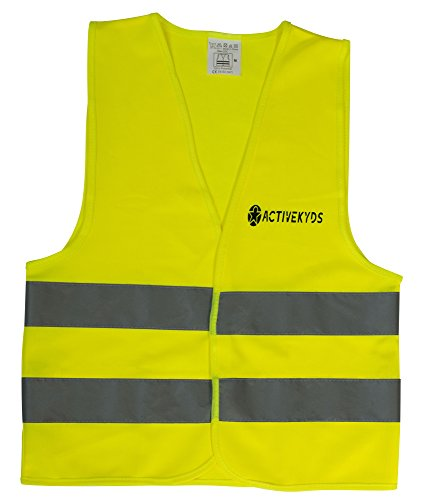 Active Kyds Medium High Visibility Kids Safety Vest for Construction Costume, Biking -