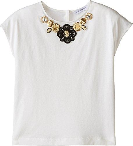 Dolce & Gabbana Kids Baby Girl's City Jeweled T-Shirt (Toddler/Little Kids) White 6 Little Kids by Dolce & Gabbana