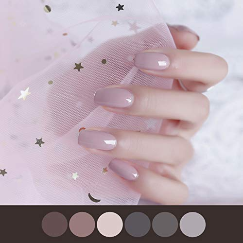 Color Lab 22PCS ADHESION Nail Art Design Classic Grey Solid Color Series DIY Nail Polish Strips, Party Nail Wraps, Transfer Decals Sticker,100% Real Nail polish applique for Manicure,A401 Sena