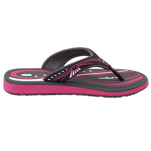 Chaussures De Pigeon Dor Gp5810 Durable Heavy Duty Unisexes Lourds Deau Extérieure Flip Flops 6895 Gris Violet