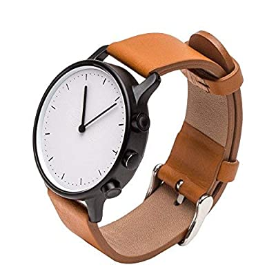 Hybrid Smartwatch,Smart Watch Sapphire Crystal Glass Wrist Watch Bluetooth Waterproof Steps Tracker Calories and Distances Counter Sleep Monitor for Android or IOS iPhone Smart Phone NewYork - 4012393 , B074X7MLZ8 , 454_B074X7MLZ8 , 131.99 , Hybrid-SmartwatchSmart-Watch-Sapphire-Crystal-Glass-Wrist-Watch-Bluetooth-Waterproof-Steps-Tracker-Calories-and-Distances-Counter-Sleep-Monitor-for-Android-or-IOS-iPhone-Smart-Phone-NewYork-454_B074X7M