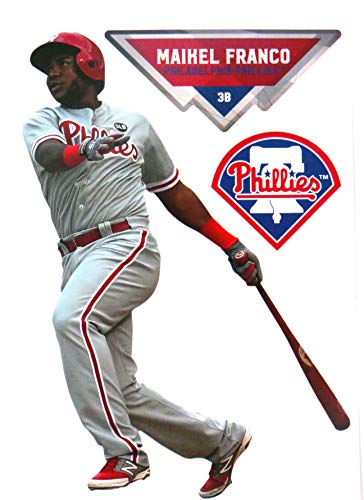 FATHEAD Maikel Franco Graphic + Philadelphia Phillies Logo Official MLB Vinyl Wall Graphics 7