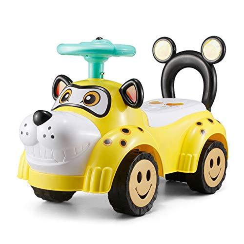 LINGLING-Caballo Mecedora Andador Infantil Twist Car Scooter Música Juguete Equilibrio del Coche Andador (Color : Amarillo)
