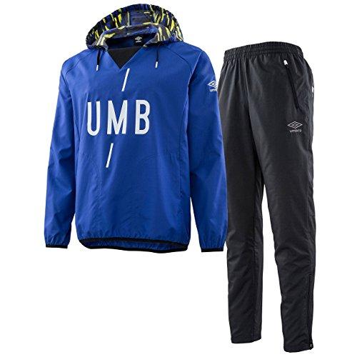 まばたき空洞平方アンブロ(UMBRO) URA ピステトップ&ラインドロングパンツ 上下セット(ブルー/ブラック) UMULJF33-BLU-UMULJG32-BLK