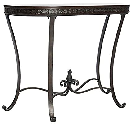 Pleasing Safavieh American Homes Collection Gueret Classic Dark Brown And Black Console Table Ibusinesslaw Wood Chair Design Ideas Ibusinesslaworg