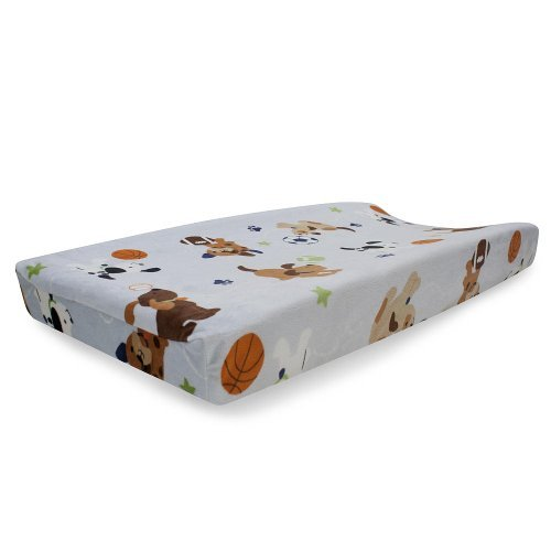 Bow Wow Buddies Changing Pad Cover by Lambs & Ivy