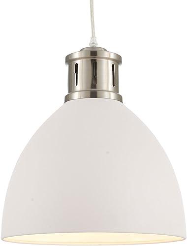 Ohr Lighting Oval Pendant Fixtures White Elegant Shade Modern Ceiling Hanging 1 Light