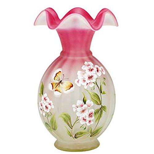 terfly Solstice on Topaz Amberina Vase (Fenton Vases)