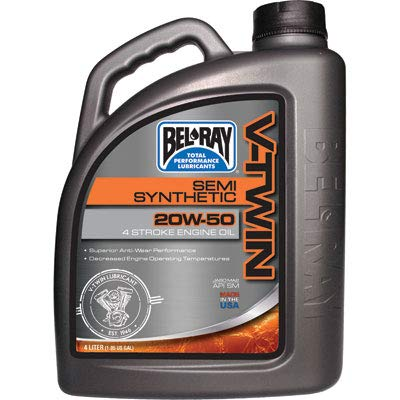Bel-Ray Semi-Synthetic 20w50 Engine Oil 4 Liter 96910-BT4 (Best Semi Synthetic Engine Oil)