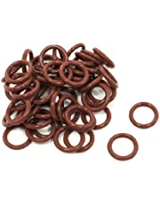 uxcell 50 Pcs 13mm x 9mm x 2mm Rubber Oil Sealing O Rings for Mechanical