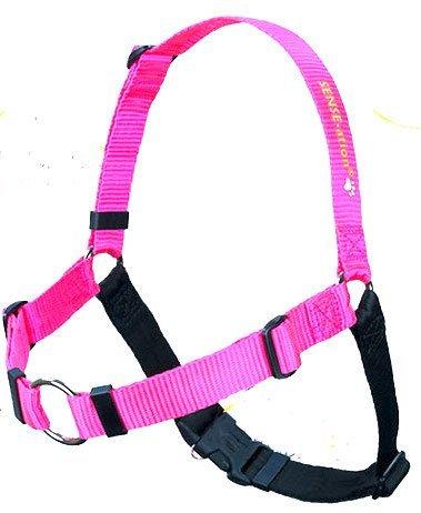 The Original SENSE-ation No-Pull Dog Training Harness (Pink, Medium-Large Wide)