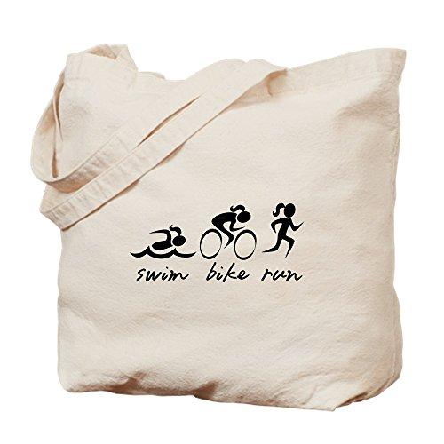 CafePress–Bicicleta de natación Run (niña)–Gamuza de bolsa de lona bolsa, bolsa de la compra Small caqui