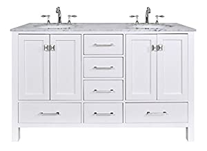 white double sink bathroom stufurhome gm  pw cr  inch malibu pure white double sink bathroom vanity