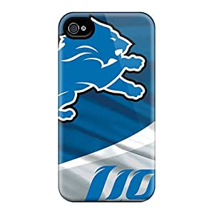 High Quality Hard Phone Case For Iphone 4/4s (qMr15861RIRh) Customized Stylish Detroit Lions Pattern
