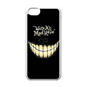 Hjqi - Customized We're All Mad Here Phone Case, We're All Mad Here Custom Case for iPhone 5C
