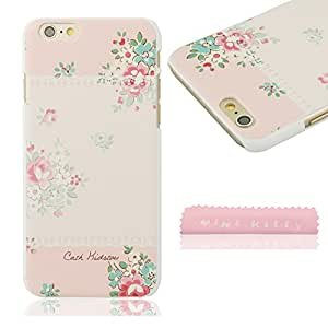 MINI KITTY Beautiful women elegant flower Hard Case Back Cover Protector Skin For iPhone 6 (4.7 inch)+ free microfiber cloth as good Valentine's Day Lovers Easter best unique creative cool gift