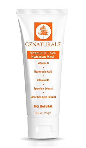 - OZNaturals Vitamin C Facial Mask - Hydration Face Mask for Dry Skin with Hyaluronic Acid, Vitamin B5 and Sea Extracts Restores Radiance and Moisture to Deliver Younger Looking Skin