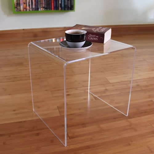 Superieur Side End Table Clear Acrylic Perspex Plastic