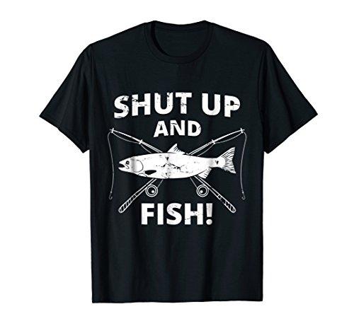 (Shut Up And Fish Shirt | Funny Fishing Shirt | Fishing Gift )