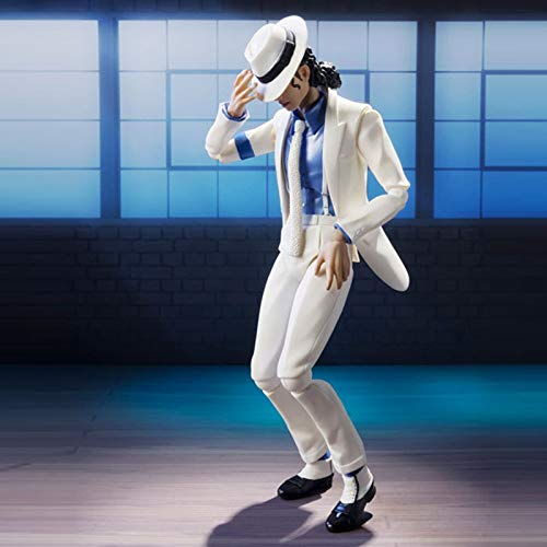 PAPCOOL Michael Jackson Figure 6 inch Hot Toys King of Pop Moonwalk Mini Small Model Toy Singer Action Figures Christmas Halloween Collection Collectable Gift Collectible Collectibles Gifts for Kids