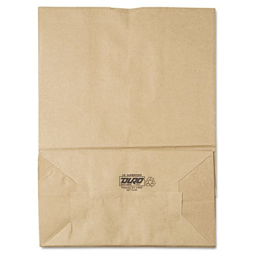 Hot General 1/6 75# Paper Bag, 75-Pound Base Weight, Brown Kraft, 12 x 7 x 17, 400-Bundle - 400 paper bags per bundle. supplier