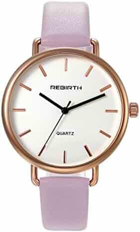 cd2d9989d Ladies Fashion Bracelet Watch Pink Slim Leather Strap Simple Japan Quartz  Dress Wristwatch for Women