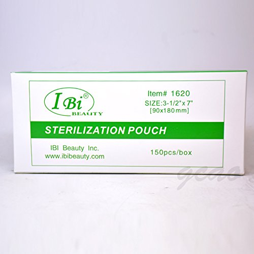 Ibi self seal sterilization pouch 150pcs box 3 5 x 7 for 3 methods of sterilization in the salon