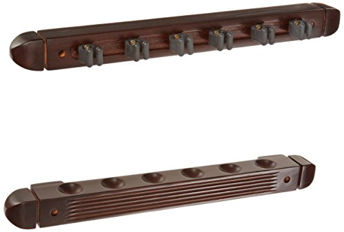 ce Wall Mounted Hardwood Billiard/Pool Cue Rack, Holds 6 Cues, Mahogany (Cue Wall Rack)
