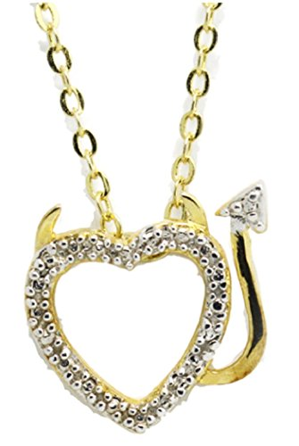 Dirt Devil Kids Costumes - GLK Gold and Silver Plated Love Heart Accent Devil Fashion Necklace Pendant for Women