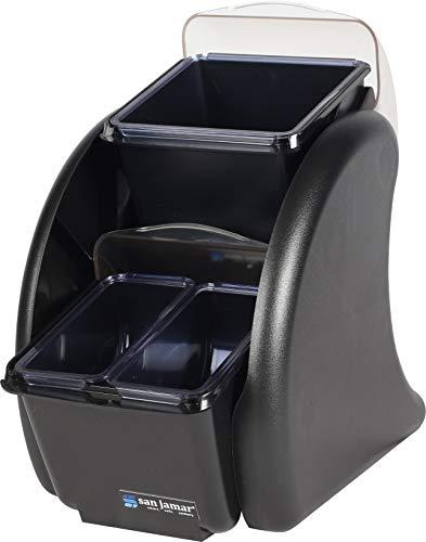 - San Jamar BDS2203 Dome Stacker, 1/1 Mini Dome, (4) 1 Pint Trays and Bonus (2) 2 Quart Trays