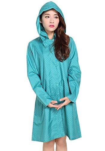 Huixin Impermeable Outdoor Rain Grün Mujer Poncho Capucha Para Con Rainwear qUBvW1qrp