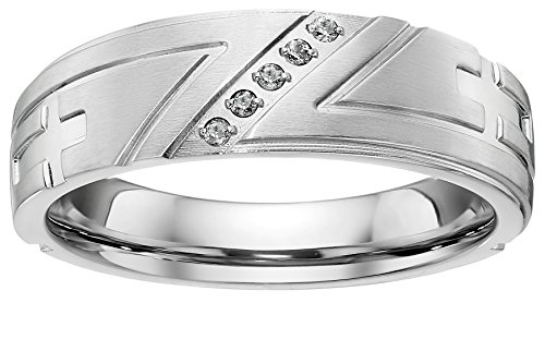 Tapered Mens Wedding Ring - 6