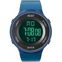 Digital Sport Watch, Waterproof Outdoor Electronic Wristwatch, with Alarm, Stopwatch, Calendar, LED Display, Shockproof, Watches for Boys Teenagers Junior Girls Ladies, R90003