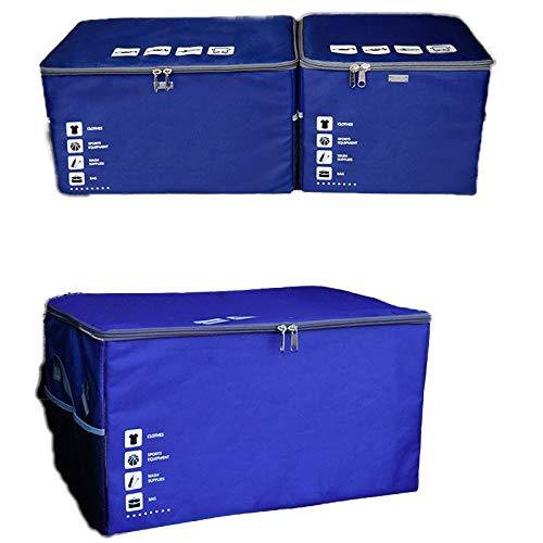 bluee 532934cm Storage box Car Trunk Storage Box Washable Car Storage Box Canvas Oxford Cloth Folding Box Storage Box Car Finishing Supplies Gifts (color   bluee, Size   53  29  34cm)