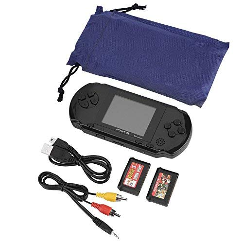 Zerone PXP3 Handheld Game Console, 16 Bit Portable Classic Game Console LCD Game Player with 2.7 Inch Color Digital TFT Screen, 2 Games Cards by Zerone (Image #1)