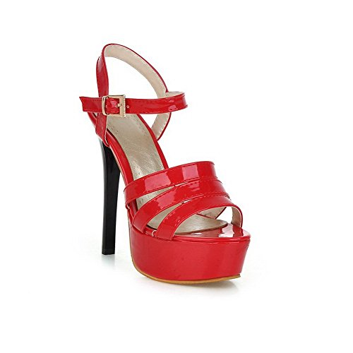 femme pour Sandales BalaMasa BalaMasa Rouge Sandales 0E1I1xqwt