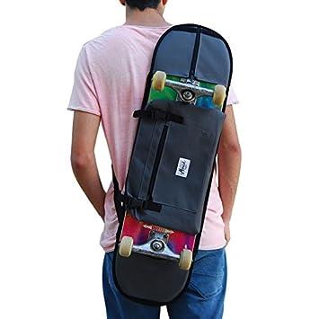 Mochila de Skate para Llevar a Cualquier Sitio tu monopatín Regalar a Skater de Toda Las Edades, Color Gris: Amazon.es: Deportes y aire libre