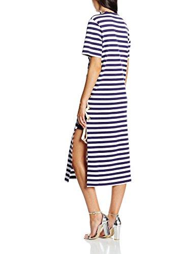 Striped Kleid Damen Navy House Blau Lacing Dress Of Midi Holland xCIwHOq
