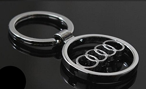 audi-car-logo-keychain-3d-silver-hollowed