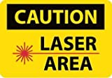 National Marker D569RB''Danger Laser Operating'' Rigid Sign, Black, Red, White,